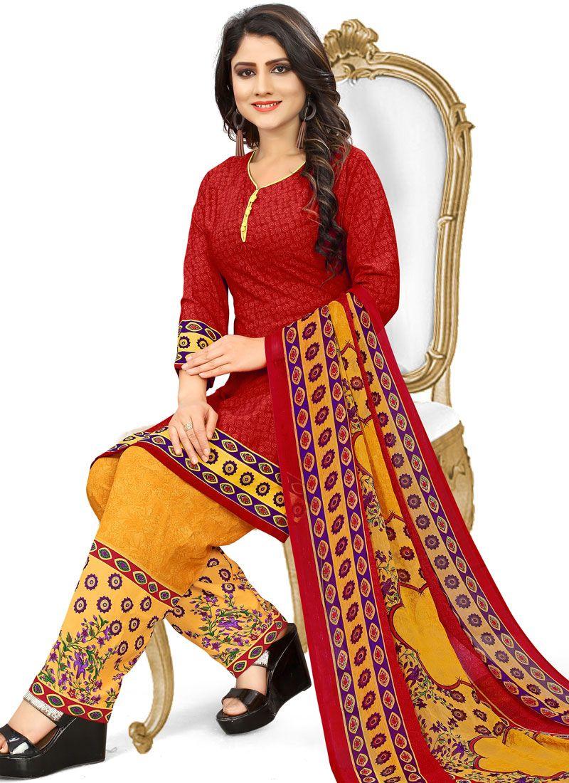 Printed Casual Punjabi Suit