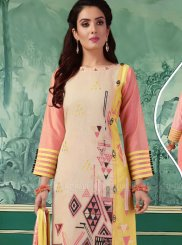 Printed Chanderi Multi Colour Churidar Designer Suit