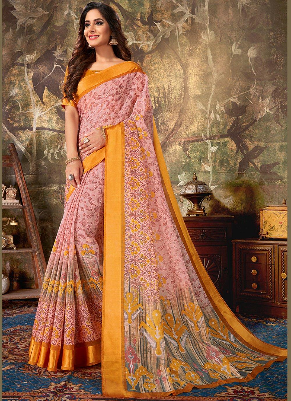 Printed Cotton Classic Designer Saree
