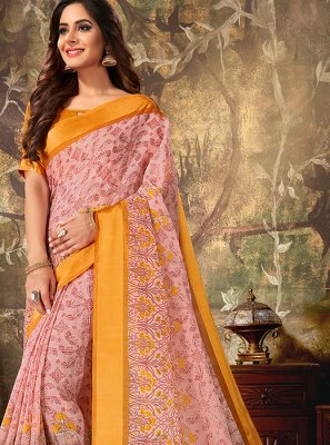 Printed Cotton Classic Designer Saree