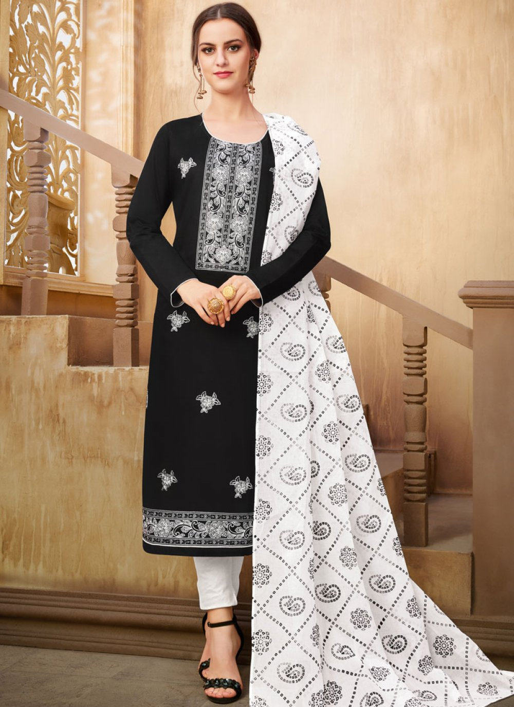 Printed Cotton Pant Style Suit