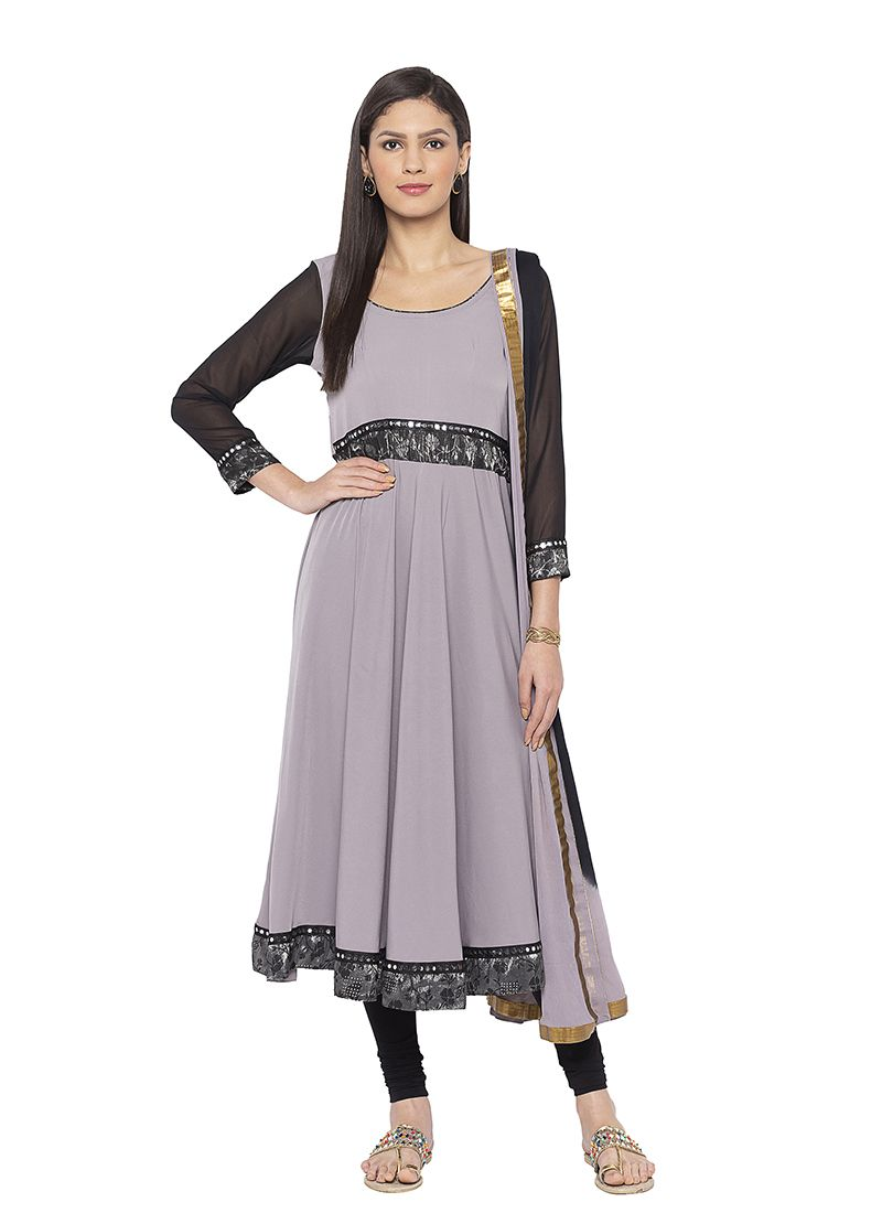 Printed Crepe Silk Designer Salwar Kameez
