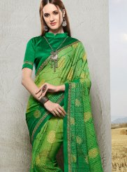 Printed Faux Chiffon Trendy Saree
