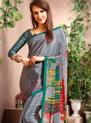 Printed Faux Crepe Casual Saree