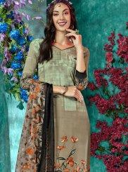 Printed Faux Crepe Salwar Kameez