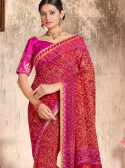 Printed Faux Georgette Casual Saree