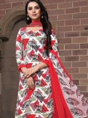 Printed Faux Georgette Pakistani Suit in Multi Colour