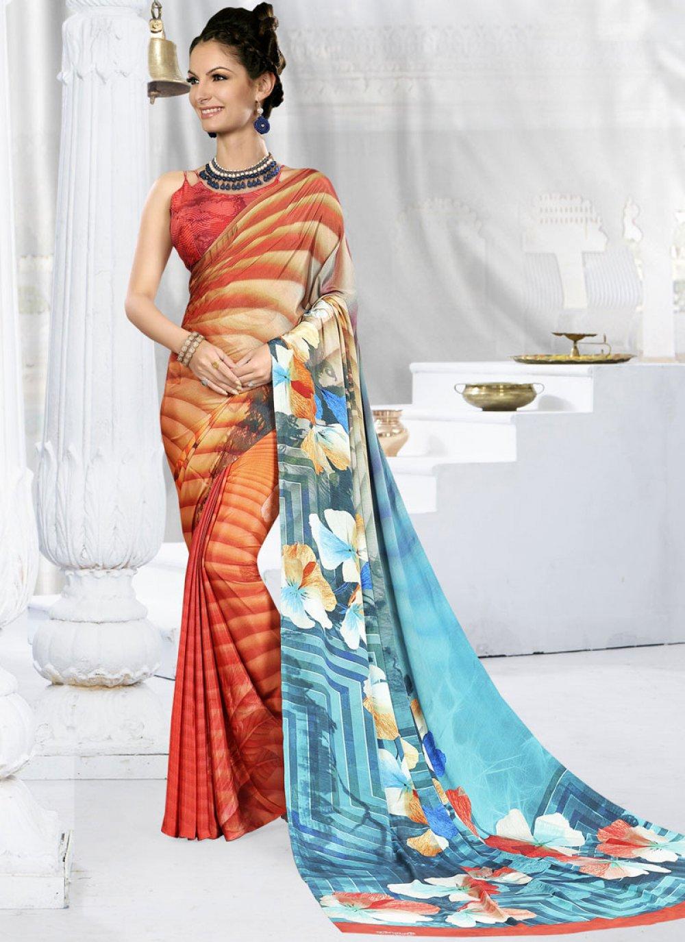 Printed Festival Trendy Saree