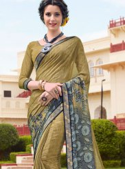 Printed Georgette Green Casual Saree