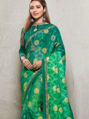 Printed Green Saree