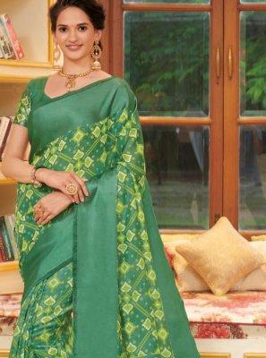 Printed Linen Designer Traditional Saree