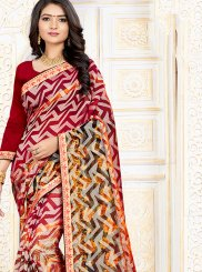 Printed Multi Colour Art Silk Printed Saree