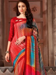 Printed Multi Colour Casual Saree