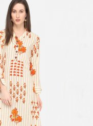 Printed Multi Colour Rayon Designer Kurti