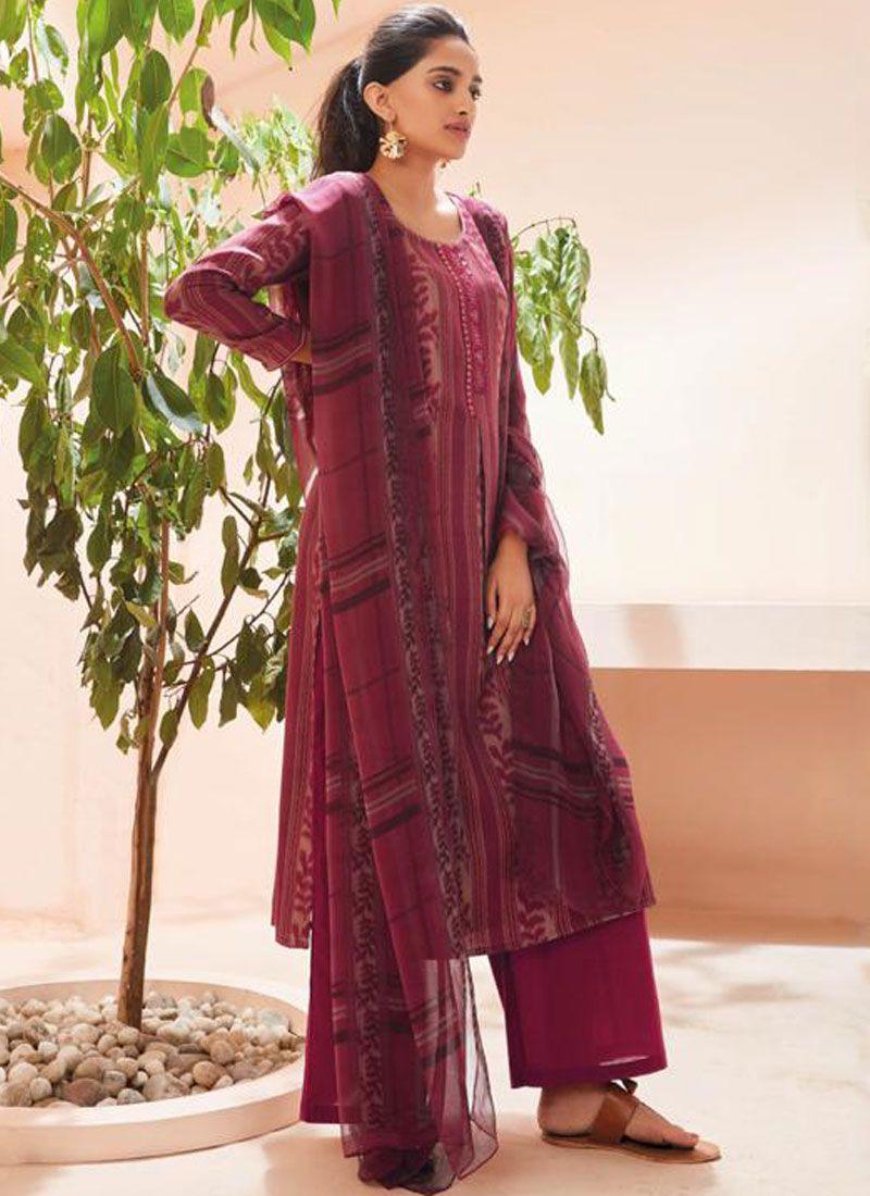 Printed Pashmina Trendy Palazzo Suit