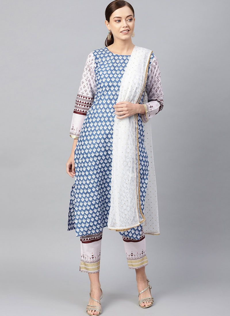 Printed Readymade Designer Suit