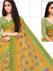 Printed Saree Printed Cotton in Multi Colour