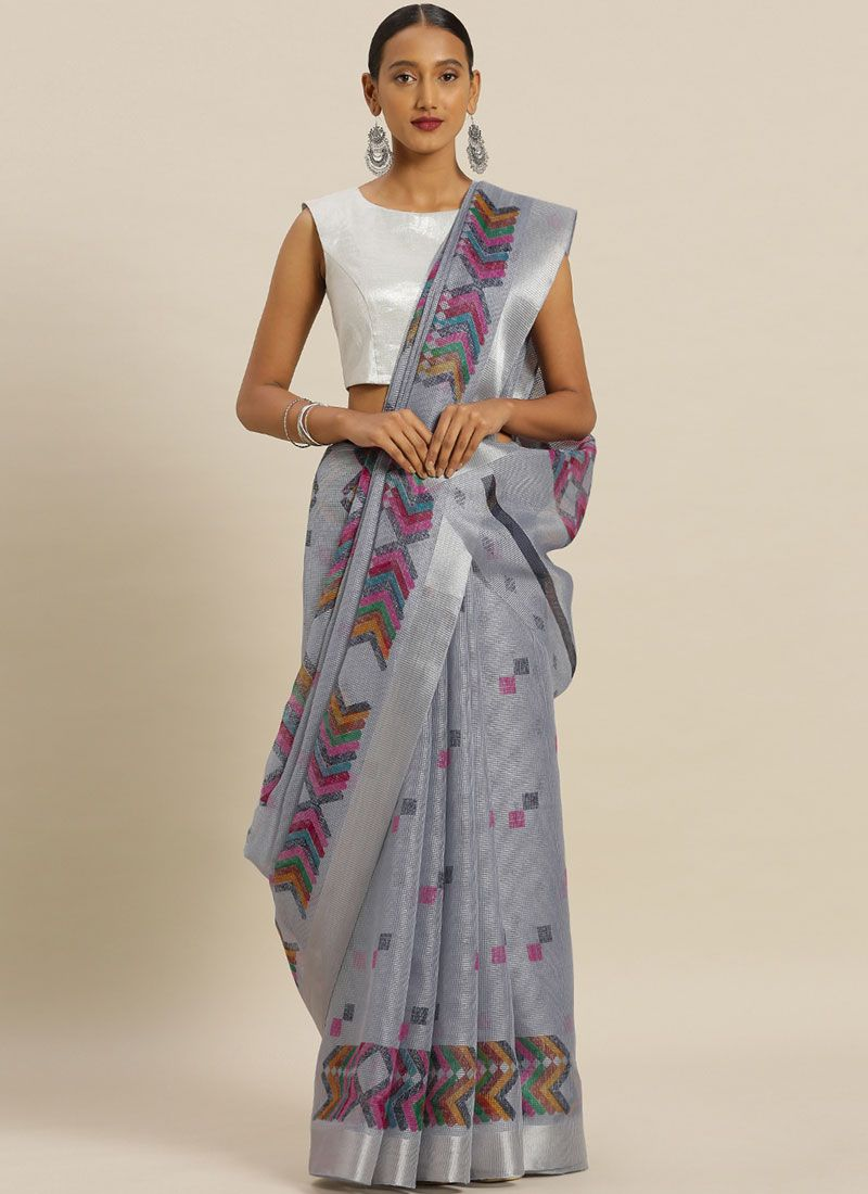 Printed Silk Casual Saree