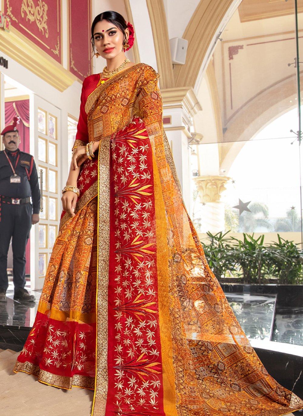 Printed Wedding Designer Traditional Saree
