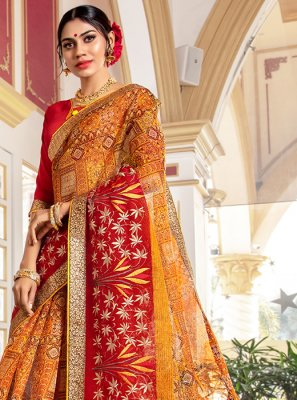 Printed Wedding Designer Traditional Saree