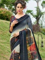 Printed Work Work Silk Casual Saree