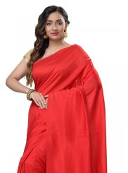 Pure Chiffon Red Casual Saree
