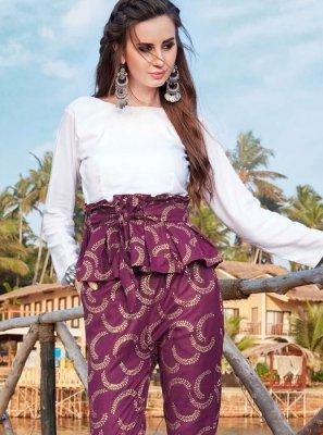 Purple and White Color Designer Kurti