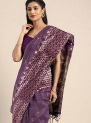 Purple Casual Art Silk Designer Traditional Saree
