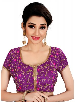 Purple Casual Brocade Designer Blouse