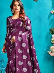 Purple Ceremonial Traditional Designer Saree