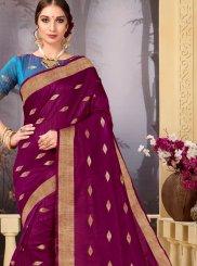 Purple Ceremonial Traditional Saree