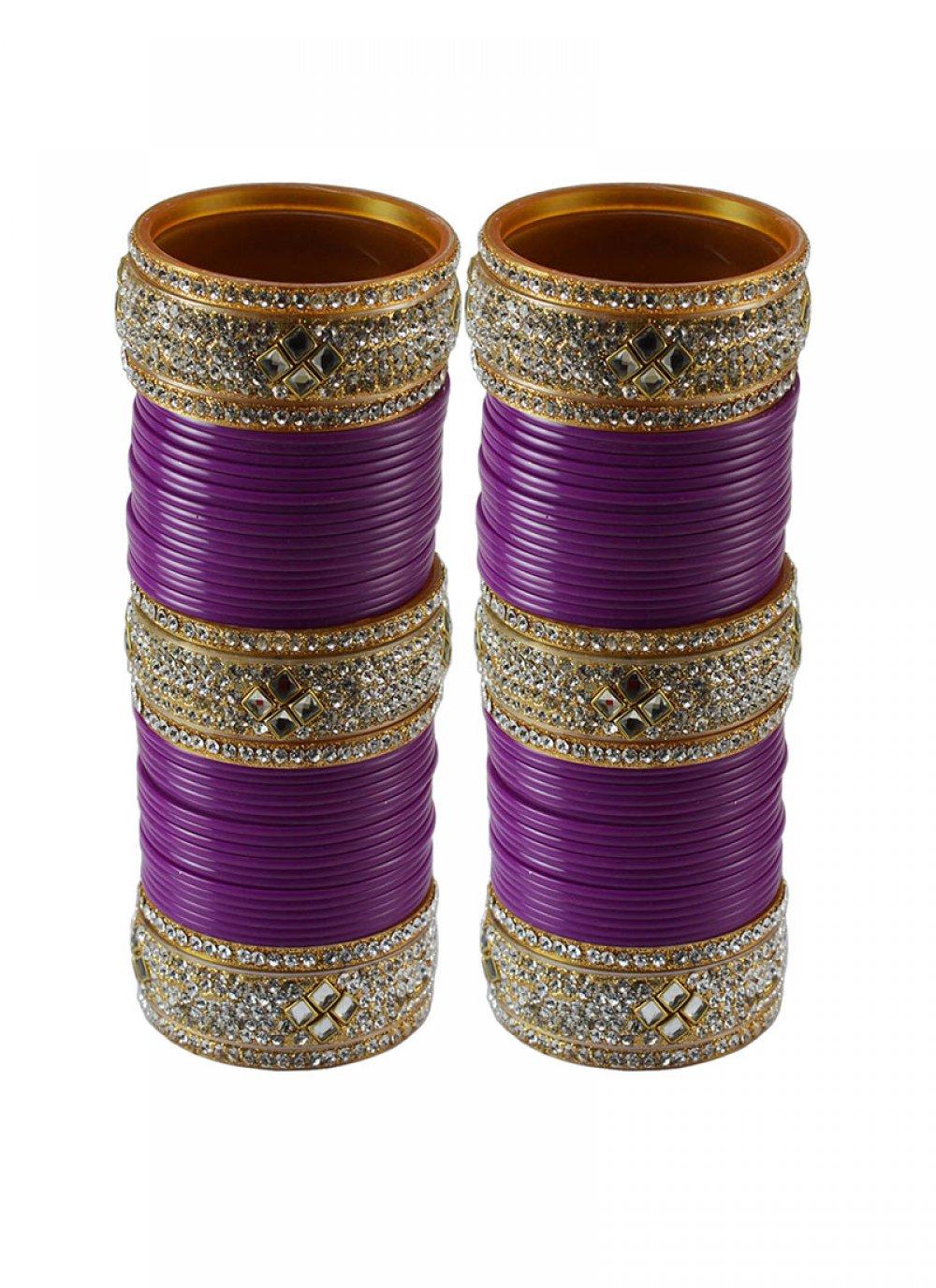 Purple Color Bangles