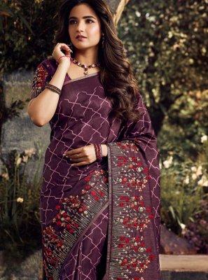 Purple Color Classic Designer Saree