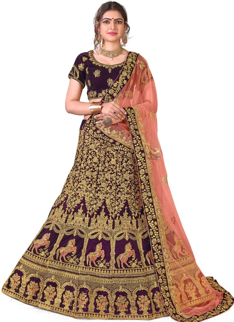Purple Color Designer Lehenga Choli