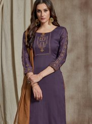 Purple Color Designer Palazzo Suit