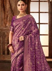 Purple Color Designer Traditional Saree