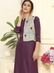 Purple Color Party Wear Kurti
