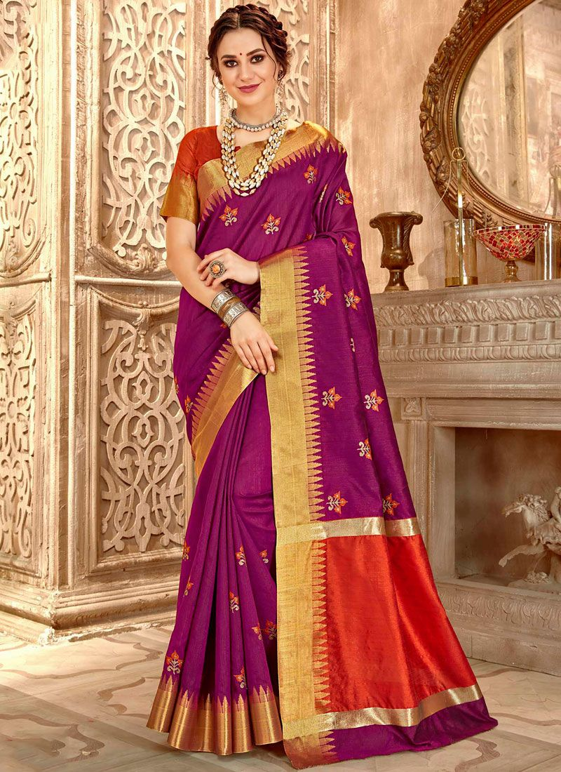 Purple Color Traditional Saree