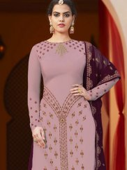 Purple Designer Pakistani Suit