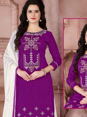 Purple Designer Palazzo Suit
