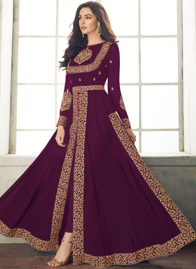 Purple Designer Salwar Suit