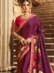 Purple Designer Traditional Saree