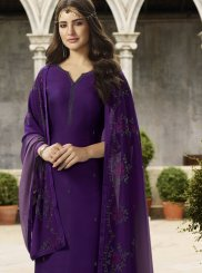 Purple Festival Churidar Designer Suit