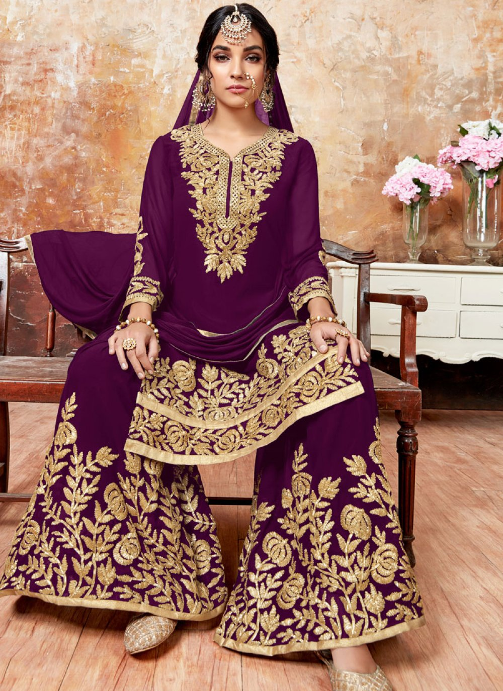Purple Festival Designer Pakistani Suit