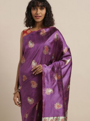 Purple Festival Designer Traditional Saree