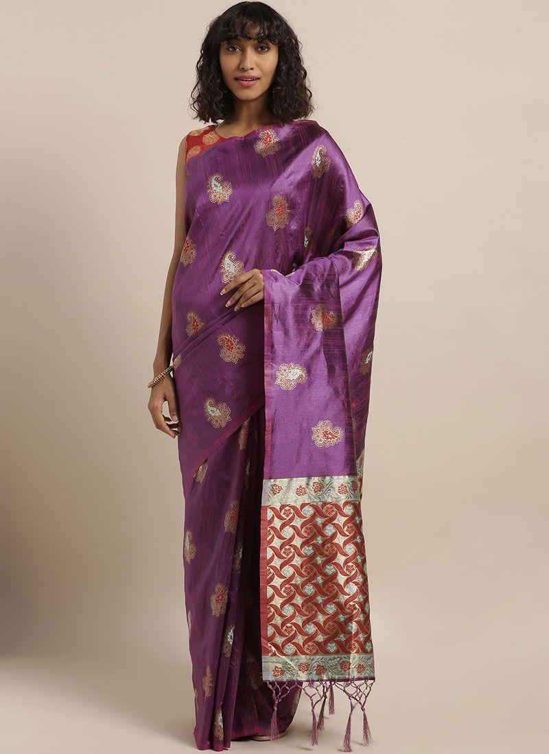 Purple Festival Designer Traditional Saree