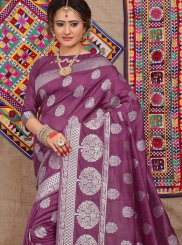 Purple Festival Fancy Fabric Traditional Saree