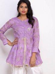 Purple Festival Party Wear Kurti