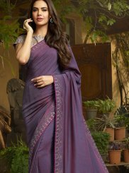 Purple Festival Saree