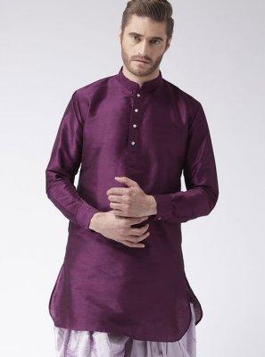 Purple Kurta Pyjama